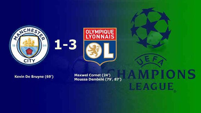Manchester City vs Olympique Lyonnais 1–3 Highlights