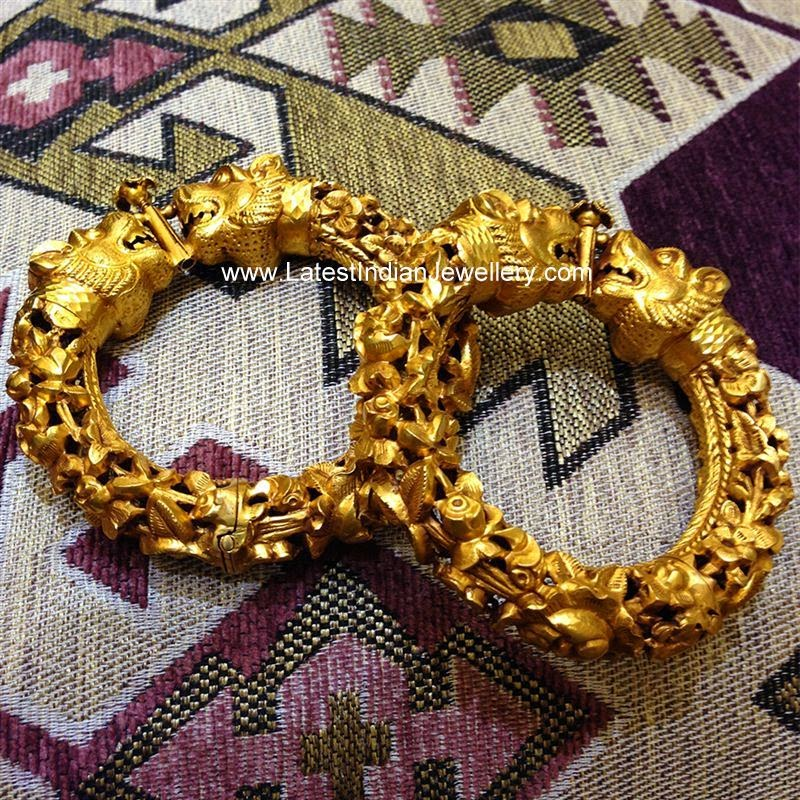 Lion Head Design Gold Kadiyam