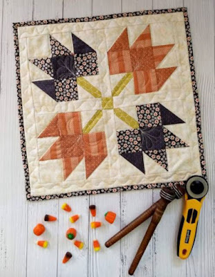 four maple leaf quilt blocks by pat sloan