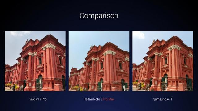 Redmi Note 9 Pro Max camera vs. Vivo V17 Pro vs. Samsung A71