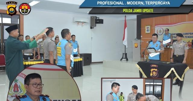 Wakapolda Jambi Pimpib Pengambilan Sumpah Pakta Integritas Seleksi Pendidikan S1 STIK Dan PTIK