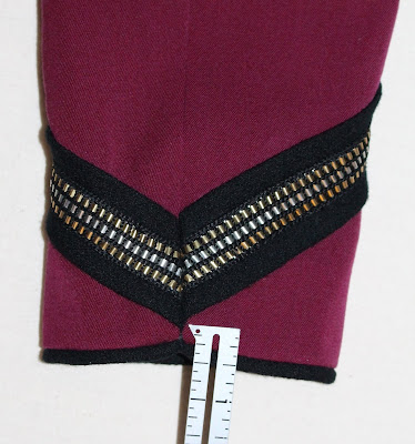 TNG season 2 admiral uniform - sleeve trim