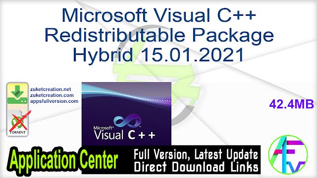Microsoft Visual C++ Redistributable Package Hybrid 15.01.2021