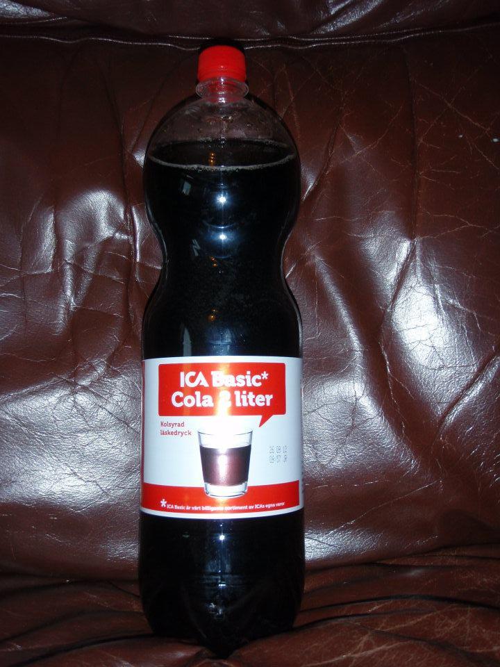 coca cola glasflaska ica