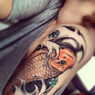 los mejores tattoos de pez koi del mundo