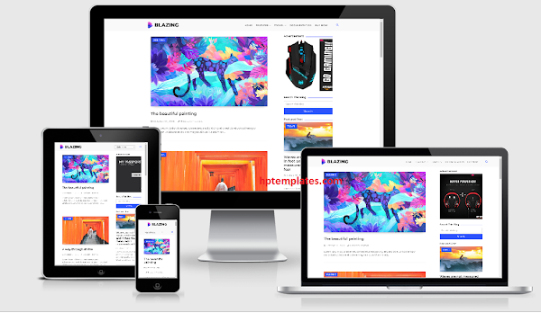 Blazing Blogger Template Premium