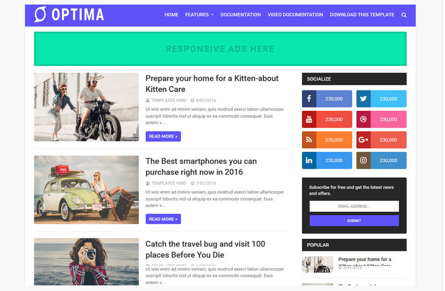 Top 10 free amp blogger templates 2020