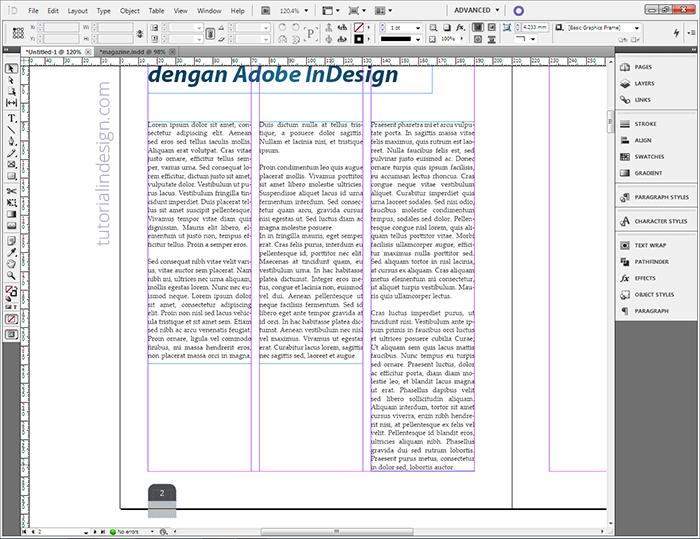 Agar Artikel Menjadi Majalah - InDesign - Kelas Desain
