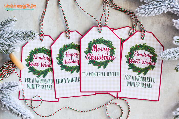 Free Christmas Teacher Gift Tag Printables