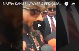Nnamdi Kanu's Lawyer & FFK Interviewed In Abuja Court Today (Video)
