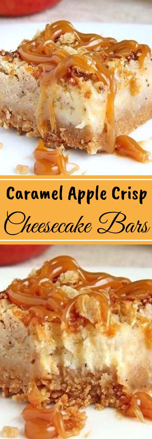 CARAMEL APPLE CHEESECAKE BARS #desserts #cakes #pumpkin #cheesecake #bars