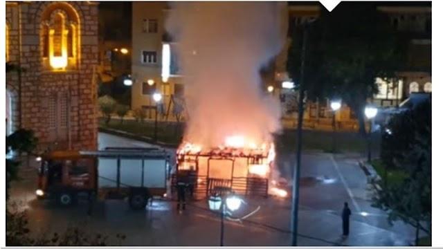 Βόλος: Ανθρώπινο δράμα πίσω από τη φωτιά στη φάτνη - Συνελήφθη άστεγος 37χρονος