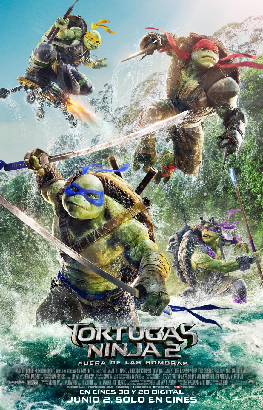 Descargar Tortugas Ninja 2: Fuera de las sombras Latino por MEGA.