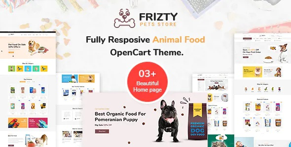 Best Pet Food Store OpenCart Theme