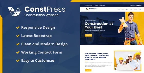 Best Construction Bootstrap 5 Template