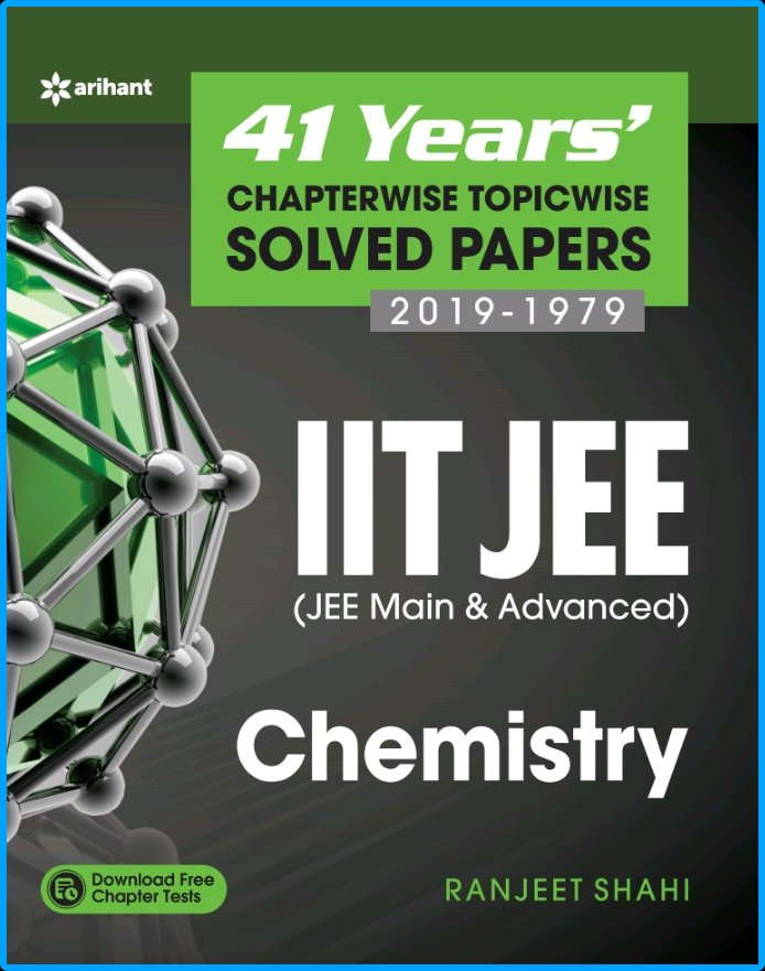 Arihant 41 Years Chemistry Solved Papers