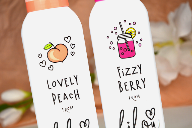 Bilou Cremiger Duschschaum Fizzy Berry und Lovely Peach | Neue Bilou Sorten Close-Up