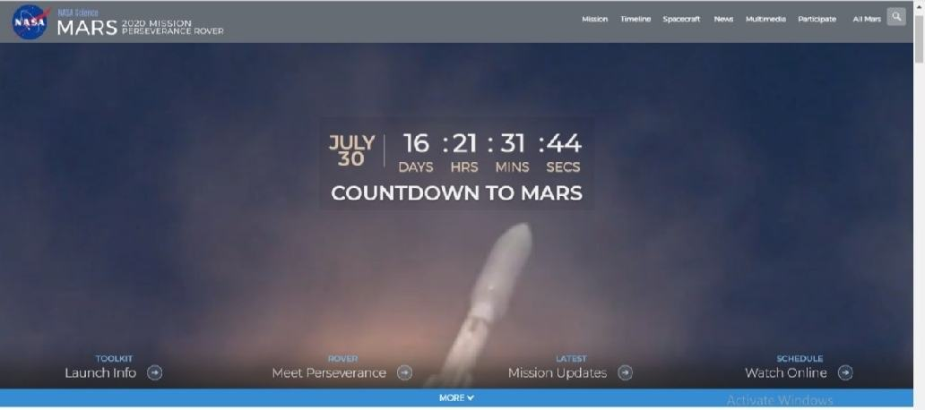 #CountdownToMars