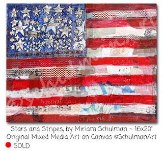 american flag art by miriam schulman | http://www.schulmanart.com