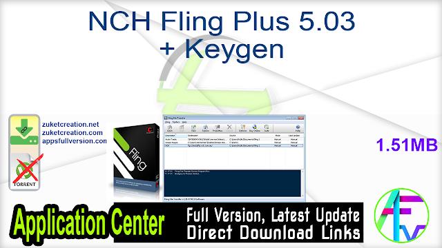 NCH Fling Plus 5.03 + Keygen