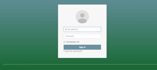 login screen in aspdotnet mvc5