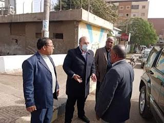 جولة ميدانية لنائب المحافظ بالعياط لتفقد عزبه تهامي وشوارع المدينة ومنطقه المزلقان