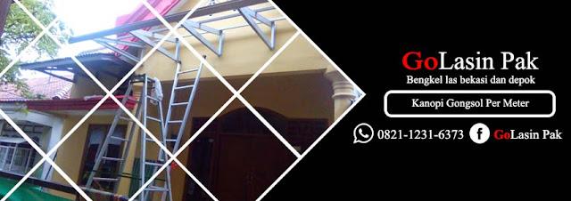 harga kanopi gongsol minimalis per meter