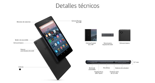 Nueva tablet de AMAZON FIRE HD 8