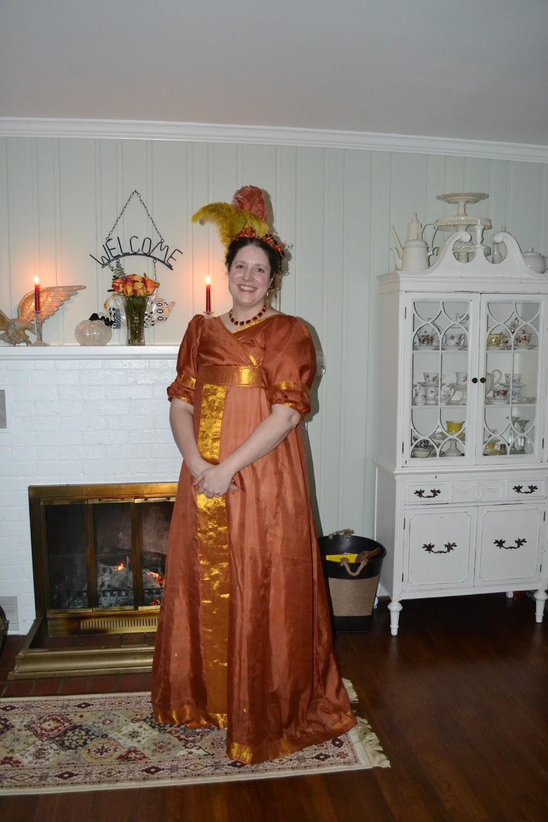 theladydetalle: Orange Silk Sari Regency gown - August Pattern HSM ...