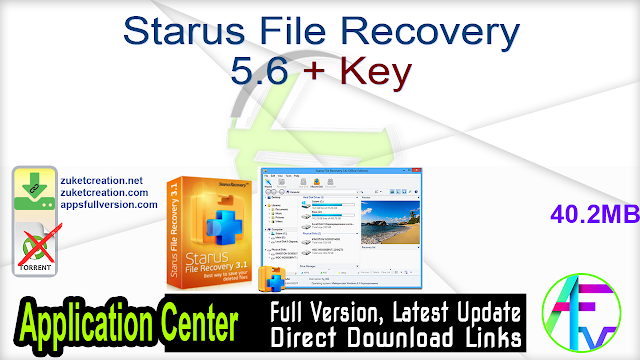 Starus File Recovery 5.6 + Key