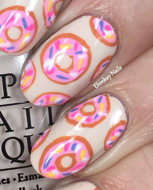 ehmkay nails homer simpson donut