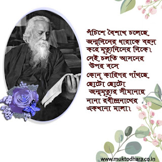 Rabindranath Tagore Birthday Anniversary
