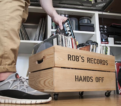 apple crate storage for vinyl records
