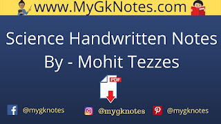 Science Handwritten Notes PDF By - Mohit Tezzes