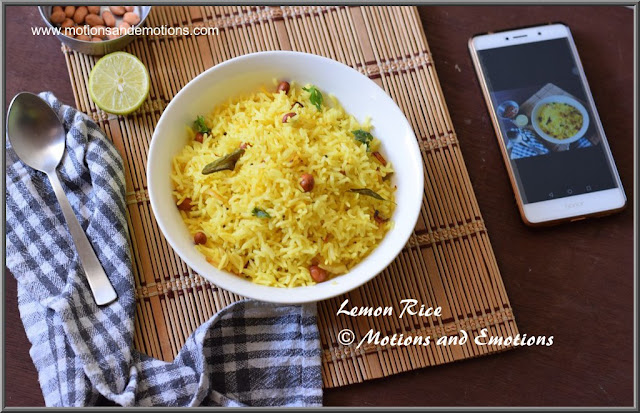 Lumchbox recipe Lemon rice