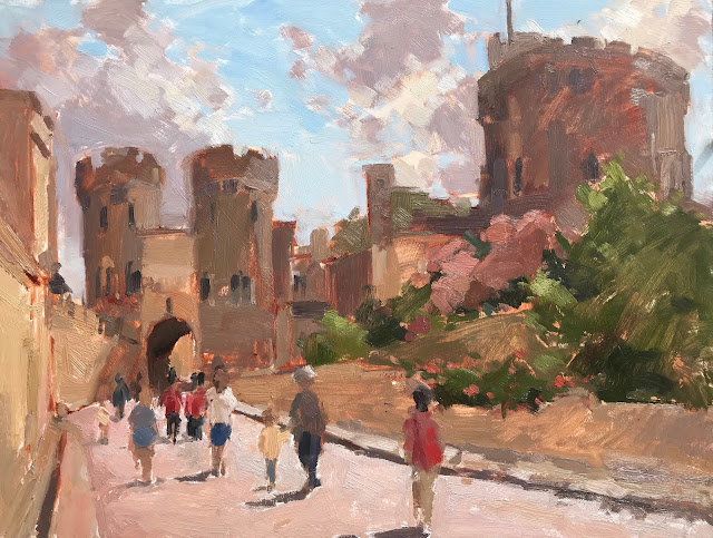 #355 'Middle Ward, Windsor Castle' 12×16″