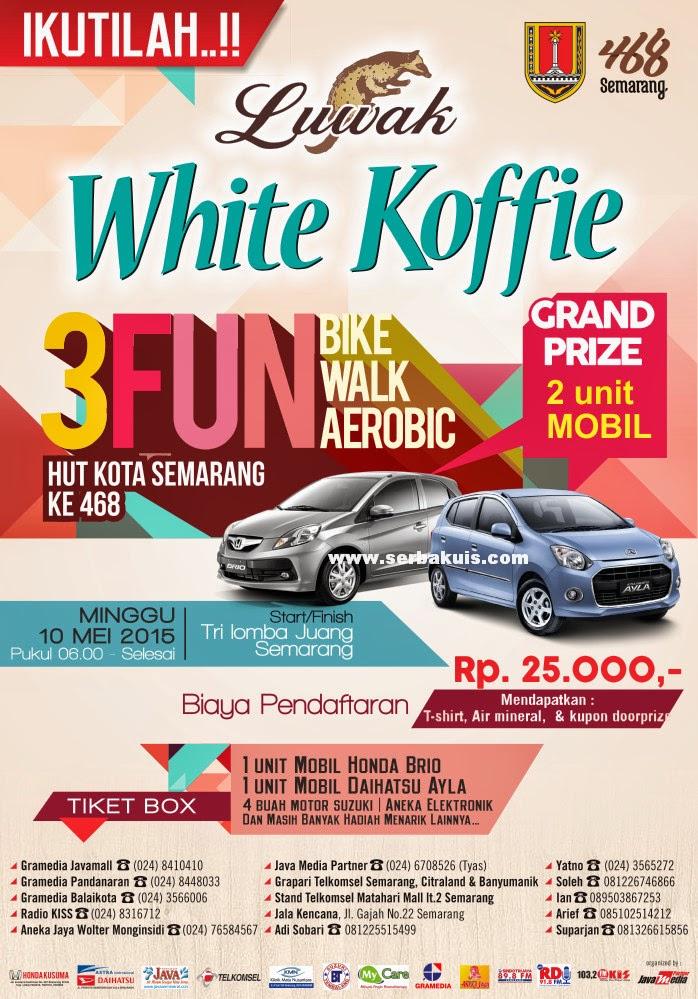 Event 3FUN HUT Semarang ke 468 Berhadiah 2 unit Mobil