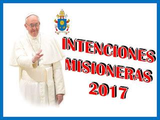Intenciones Misioneras 2017