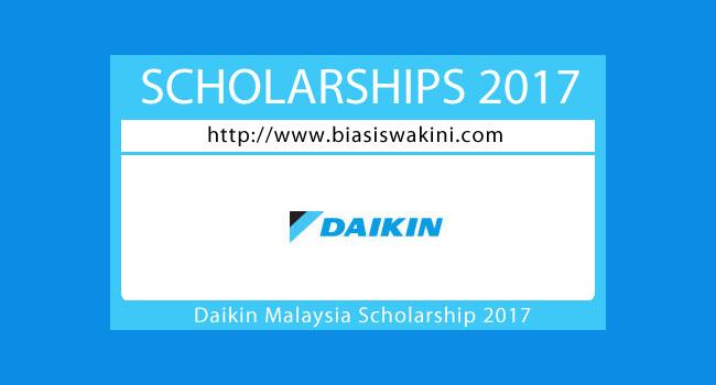 Daikin Malaysia Scholarship 2017