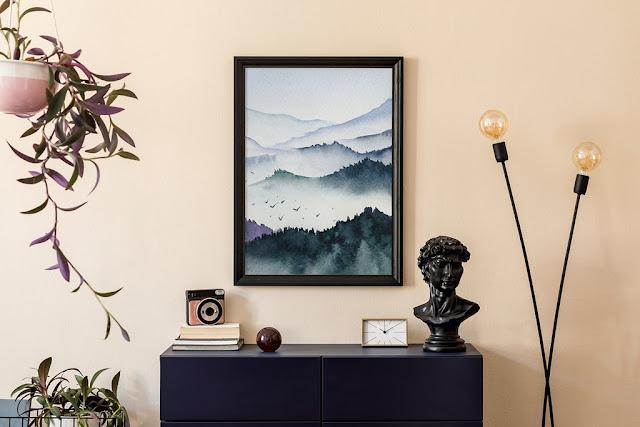 plakat z naturą góry
