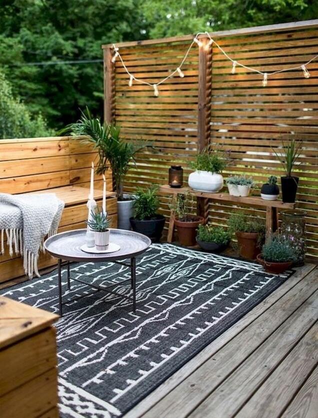 Cantinho do descanso na varanda