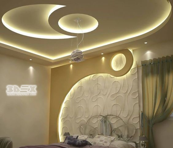Modern gypsum board false ceiling designs prices for Bedroom gypsum ceiling designs photos
