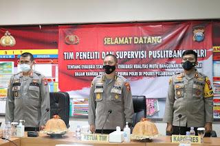 Tim Puslitbang Polri Sambangi Polres Pelabuhan Makassar