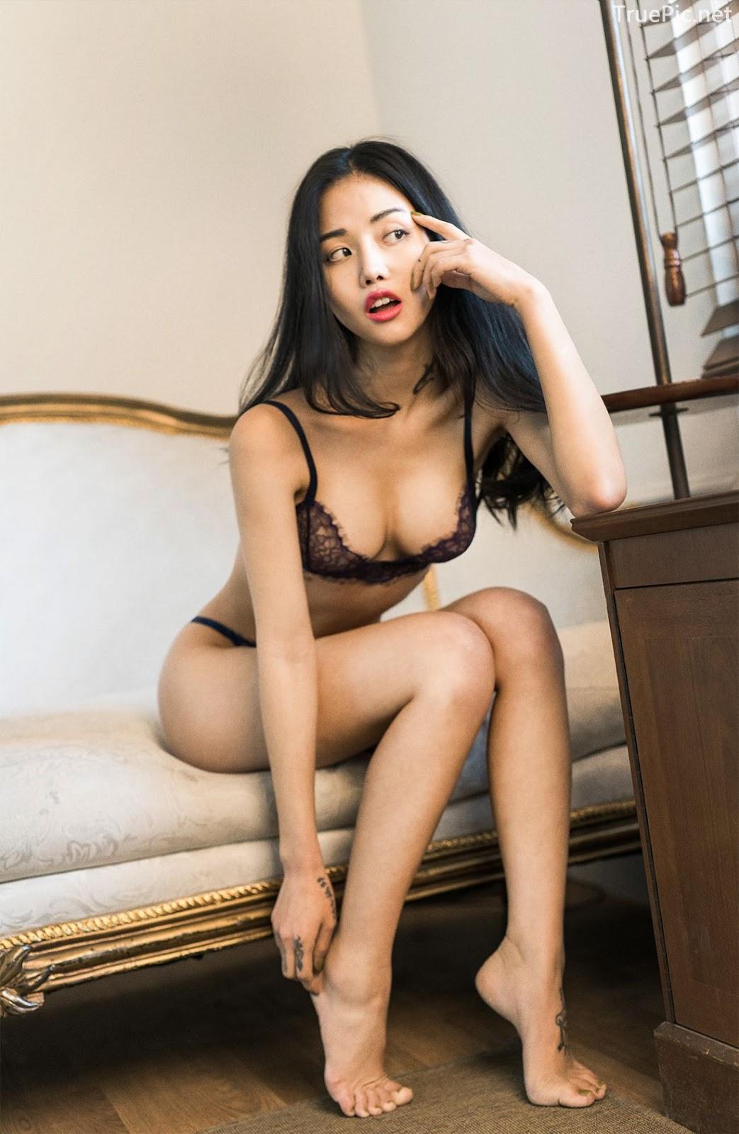 Korean Fashion Model - Baek Ye Jin - Sexy Lingerie Collection - TruePic.net - Picture 10