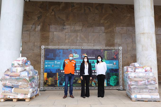 Iniciativa da Copel arrecada 16 toneladas de alimentos para Cesta Solidária