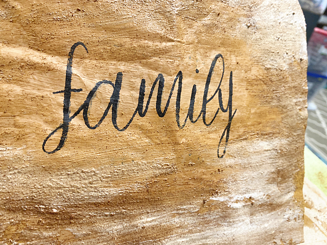family stencil with silk screen