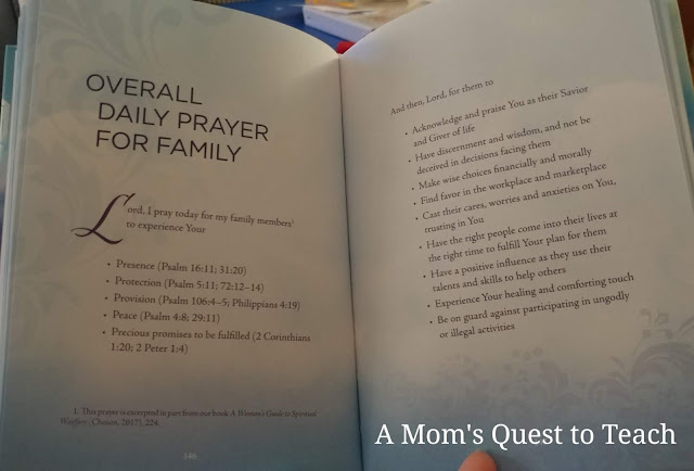 page from Warfare Prayers for Women; Overall Daily Prayer for Family