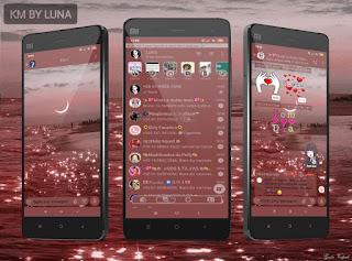Moon Pink Theme For YOWhatsApp & Fouad WhatsApp By Luna