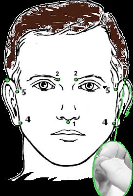 схема и описание массажа при шуме, звоне в ушах