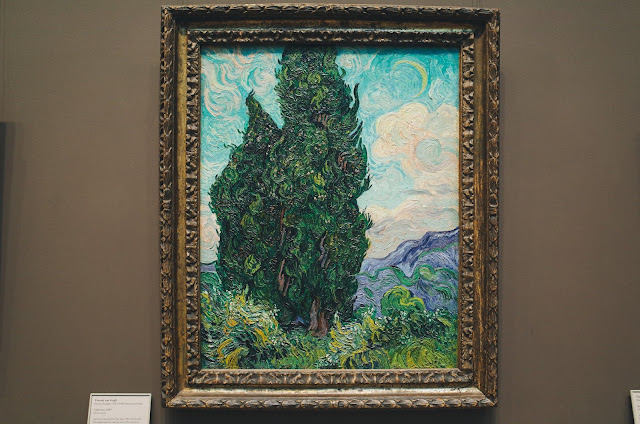 Van Gogh, Gauguin, and Seurat|糸杉(Cypresses)1889年